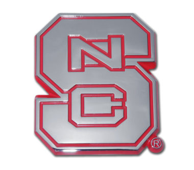 North Carolina State Red Chrome Emblem