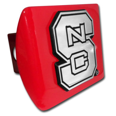 North Carolina State Emblem on Red Hitch Cover