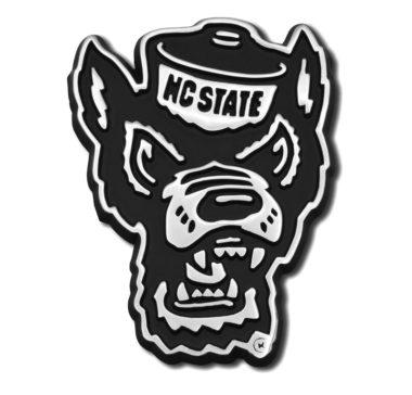 North Carolina State Wolfie Chrome Emblem