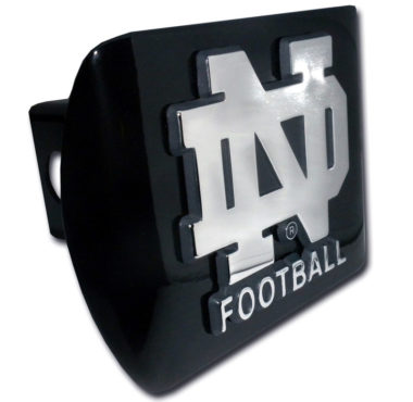Notre Dame Football Emblem on Black Hitch Cover