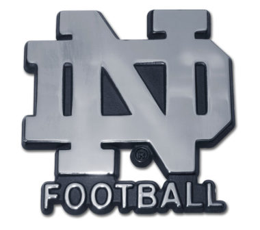 Notre Dame Football Chrome Emblem