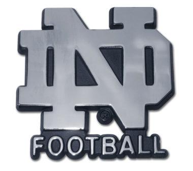 Notre Dame Football Chrome Emblem