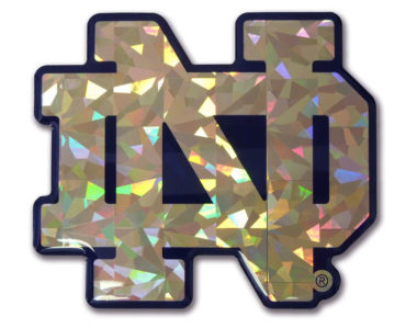Notre Dame Gold 3D Reflective Decal