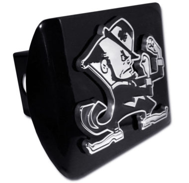 Notre Dame Leprechaun Emblem on Black Hitch Cover