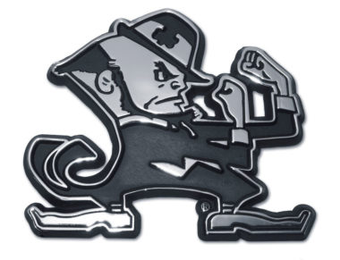 Notre Dame Leprechaun Chrome Emblem