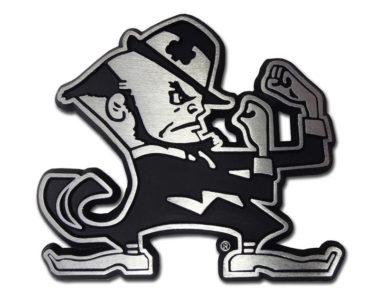 Notre Dame Matte Leprechaun Chrome Emblem image