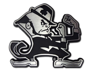 Notre Dame Matte Leprechaun Chrome Emblem
