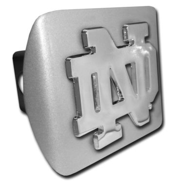 Notre Dame Emblem on Brushed Hitch Cover
