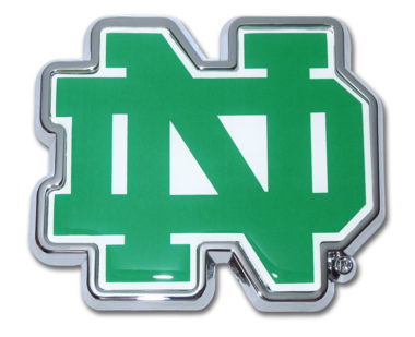 Notre Dame Color Chrome Emblem