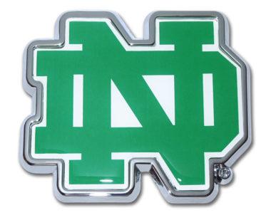 Notre Dame Color Chrome Emblem