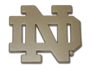 Notre Dame Gold Powder-Coated Emblem