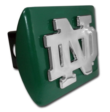 Notre Dame Emblem on Green Hitch Cover