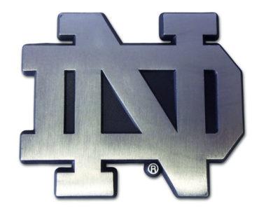 Notre Dame Matte Chrome Emblem