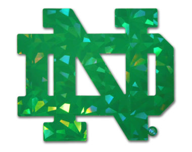Notre Dame Green Reflective Decal