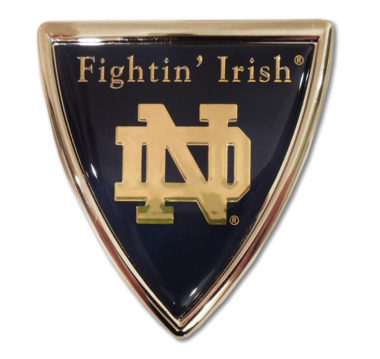Notre Dame Shield Chrome Emblem