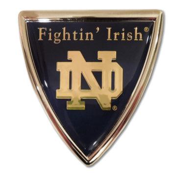 Notre Dame Shield Chrome Emblem