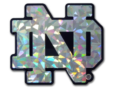 Notre Dame Silver 3D Reflective Decal