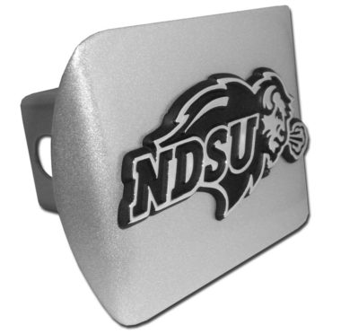 North Dakota State Emblem on Brushed Hitch Cover