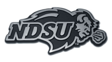 North Dakota State Matte Chrome Emblem image