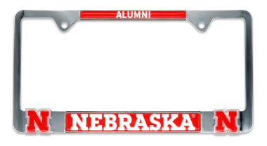 Nebraska 3D Alumni License Plate Frame