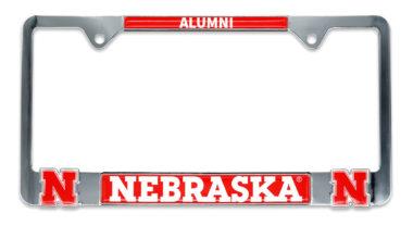 Nebraska 3D Alumni License Plate Frame