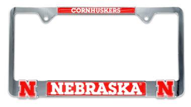 Nebraska 3D Huskers License Plate Frame