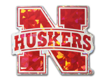 University Nebraska Red 3D Reflective Decal image