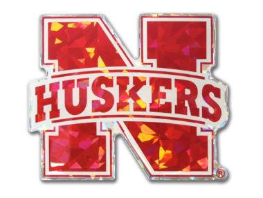 University Nebraska Red 3D Reflective Decal