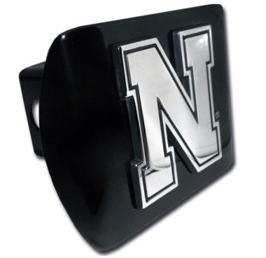 University of Nebraska Emblem on Black Hitch Cover