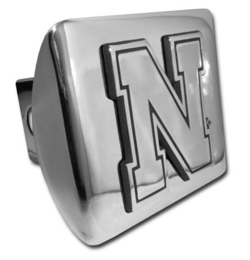 University of Nebraska Emblem on Chrome Hitch Cover