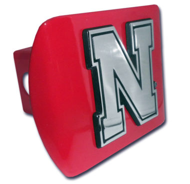 University of Nebraska Emblem on Red Hitch Cover