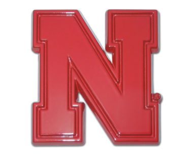 University of Nebraska Red Powder-Coated Emblem