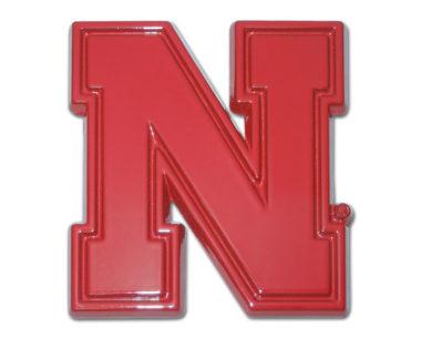 University of Nebraska Red Powder-Coated Emblem