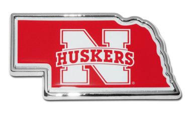 University of Nebraska Huskers Chrome Auto Emblem
