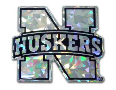 University of Nebraska Silver 3D Reflective Decal