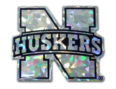 University of Nebraska Silver 3D Reflective Decal image