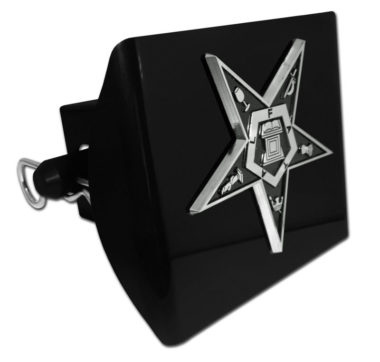 Eastern Star Emblem on Black Plastic Hitch Cover