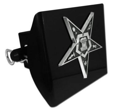 Eastern Star Emblem on Black Plastic Hitch Cover