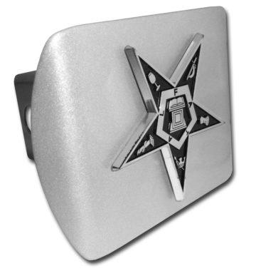 Easter Star Emblem on Brushed Hitch Cover