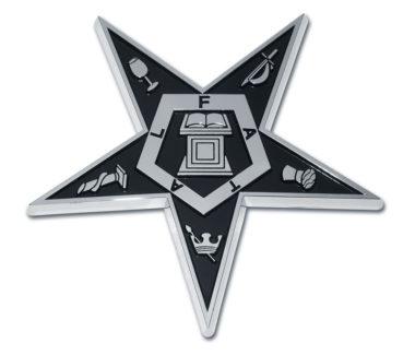 Eastern Star Shiny Chrome Emblem