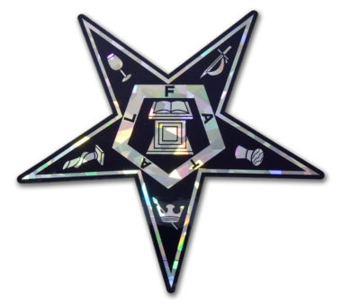 Eastern Star Reflective Decal