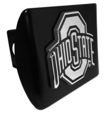 Ohio State Emblem on Black Hitch Cover