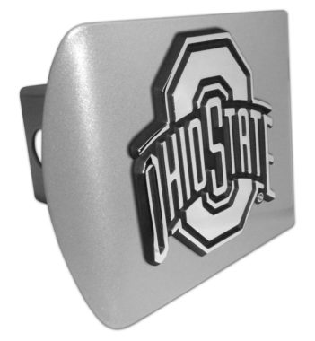 Ohio State Emblem on Brushed Hitch Cover