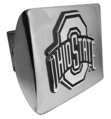 Ohio State Emblem on Chrome Hitch Cover