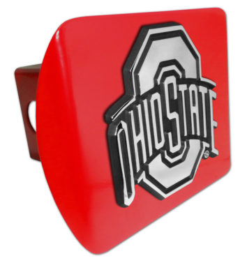 Ohio State Emblem on Red Hitch Cover