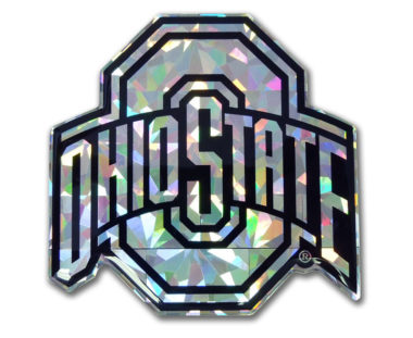 Ohio State Silver 3D Reflective Decal image