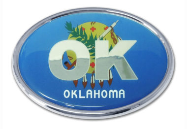 Oklahoma Flag Chrome Emblem