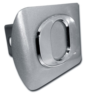 """Oregon """"O"""" Brushed Metal Hitch Cover"""
