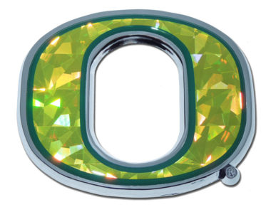 "Oregon Yellow ""O"" Chrome Emblem"