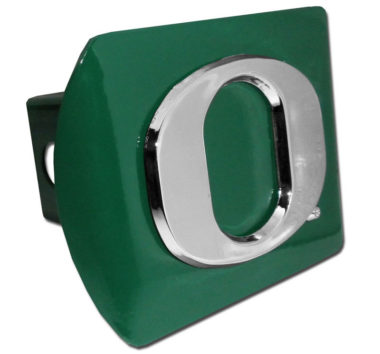 "Oregon ""O"" Green Metal Hitch Cover"